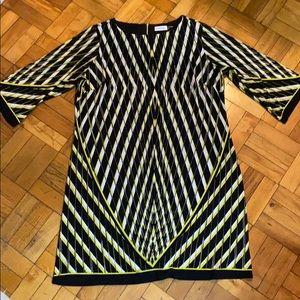 Calvin Klein print dress with zip back